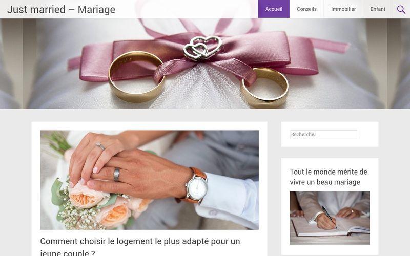 Just married - Mariage - Le site qui vous dit tout sur le mariage