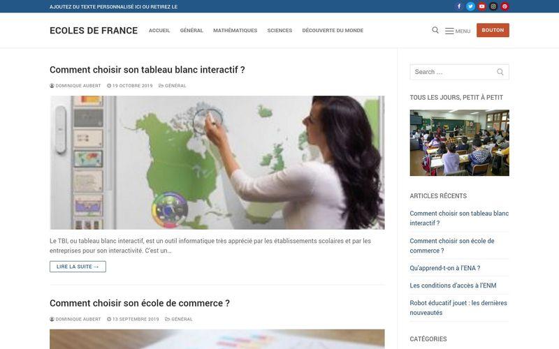 Ecoles de France - Faire grandir les nouvelles générations