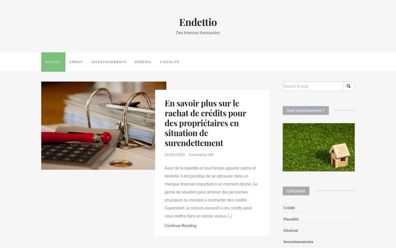 Endettio - Des finances florissantes